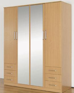 šatní skříň kika šatní skříň 4 dveře 6 zásuvek dveře ...